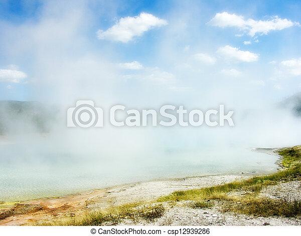 Yellowstone Geyser - csp12939286
