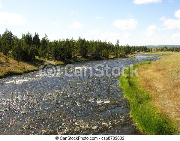 Yellowstone Geyser - csp8703803