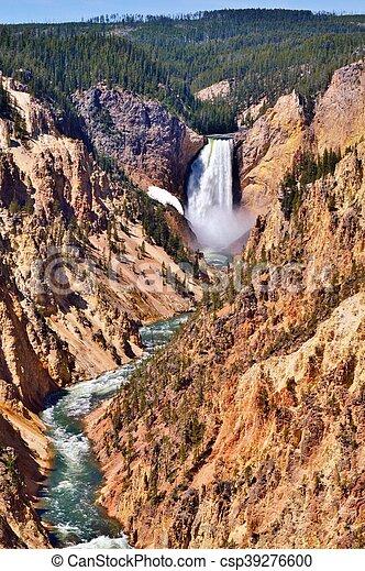 Yellowstone lower falls - csp39276600