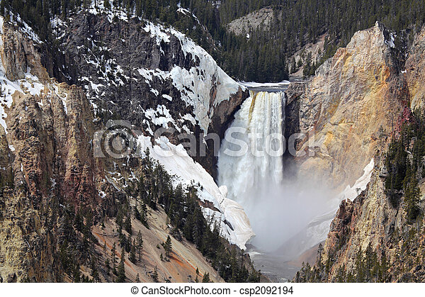 yellowstone national park - lower falls - csp2092194