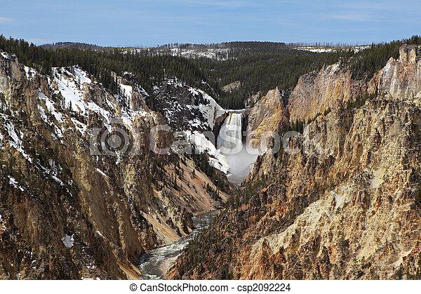 yellowstone national park - lower falls - csp2092224