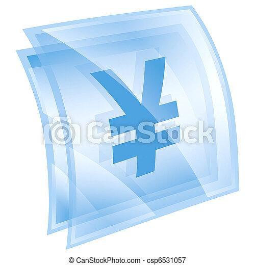 Yen icon blue, isolated on white background - csp6531057