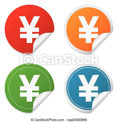 Yen Sign Icon Jpy Currency Symbol Money Label Round Vector