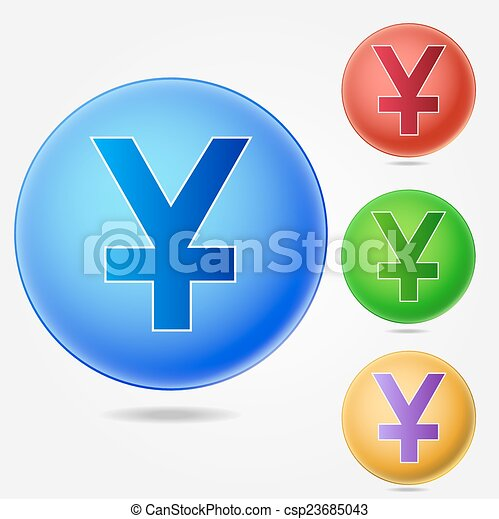 Yen Sign Icon Jpy Currency Symbol Eps Vector Search Clip Art