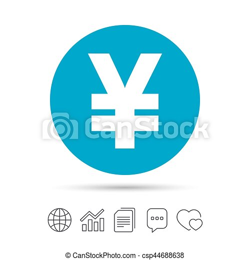 Yen Sign Icon Jpy Currency Symbol Money Label Copy Files Chat