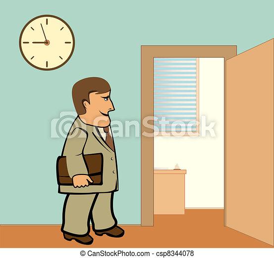 Yendo trabajo oficina hombre de negocios trabajo de la for Oficinas para buscar trabajo