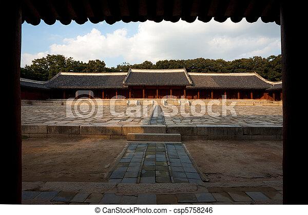 Jongmyo yeongjeon hall de santuarios - csp5758246