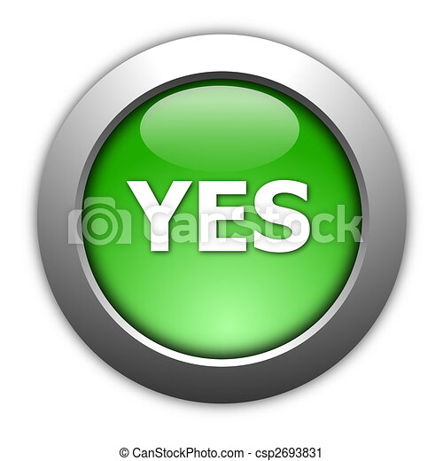 yes and no button - csp2693831