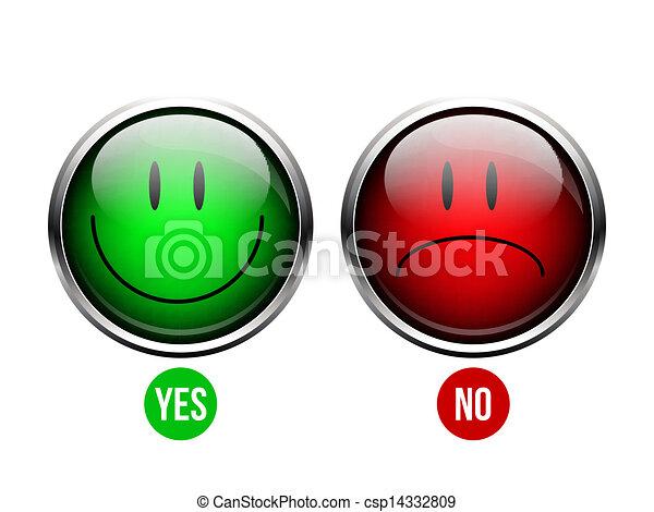Yes, No button - csp14332809