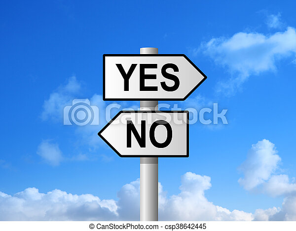 Yes No Sign - csp38642445
