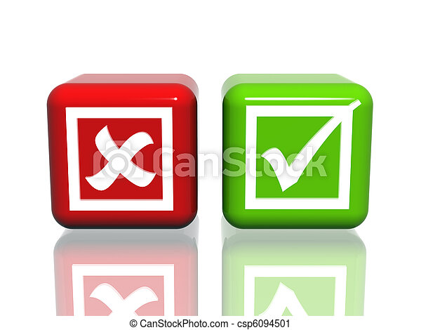 Yes No Signs Isolated 3d Cubes With Yes No Symbols