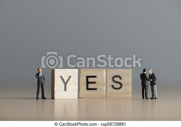 yes., tuiles, concept, lettres, business, bois, mot, orthographe, dehors - csp56729881