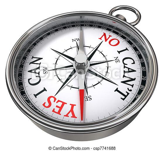 yes vs no concept compass - csp7741688