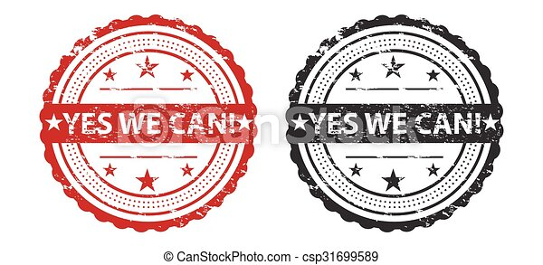 Yes We Can Slogan Over Grunge Stamp / Stamp Icon Art / Stamp Icon Jpeg / Stamp Icon Vector / Stamp Icon Symbol - csp31699589