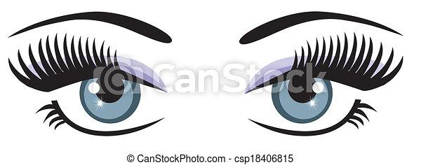yeux bleus - csp18406815