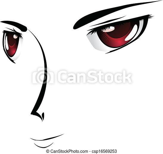 yeux dessin anim visage rouge yeux simple style. Black Bedroom Furniture Sets. Home Design Ideas