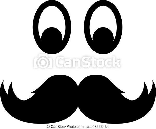 Yeux moustache - Dessin de moustache ...