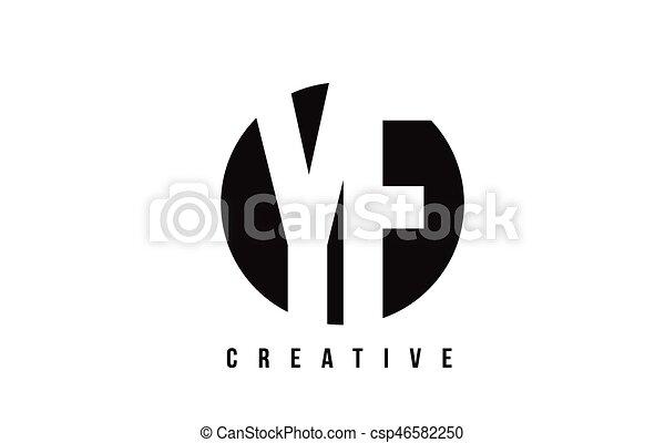 Yf Y F White Letter Logo Design With Circle Background Yf Y F White