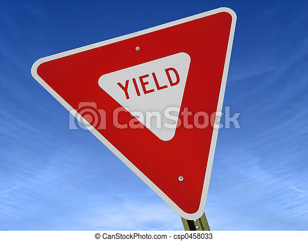 Yield Sign Tilted  - csp0458033