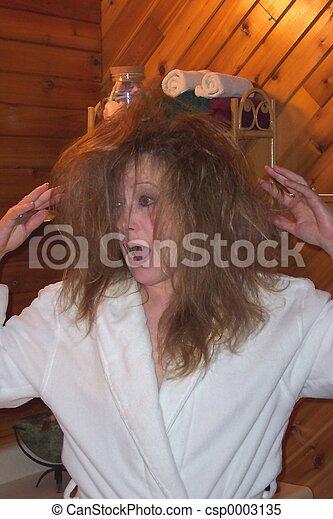 Yikes!Bad hair day! - csp0003135