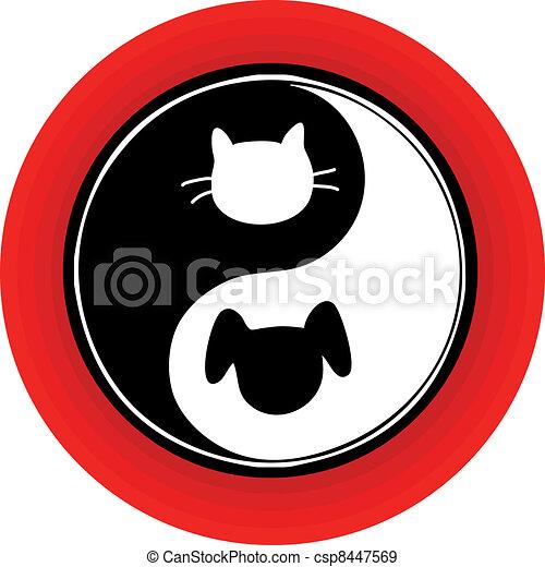 Yin Yang Cat Dog - csp8447569