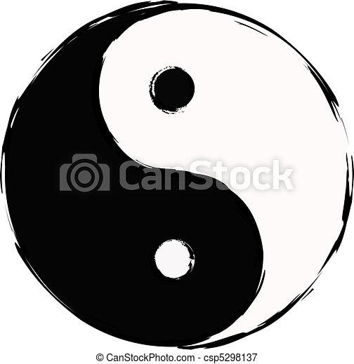 yin yang taoistic symbol of harmony and balanc vectors illustration rh canstockphoto com yin yang symbol clip art Yin Yang Black and White Clip Art