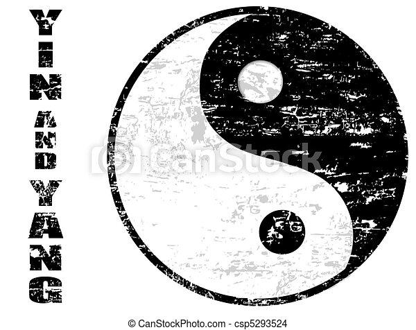 yin yang stamp - csp5293524
