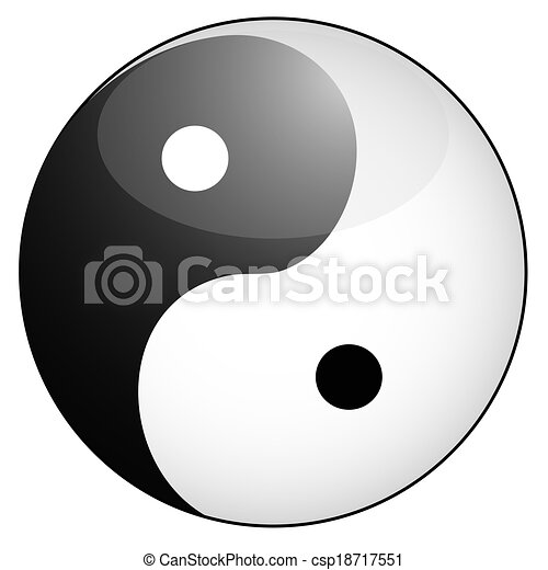 Isolated Glossy Yin Yang Symbol From White Background