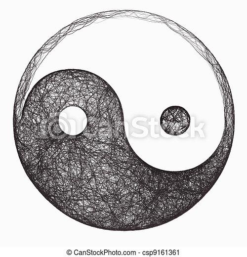 Yin Yang Symbol Computer Generated Black And White Yin Yang Symbol
