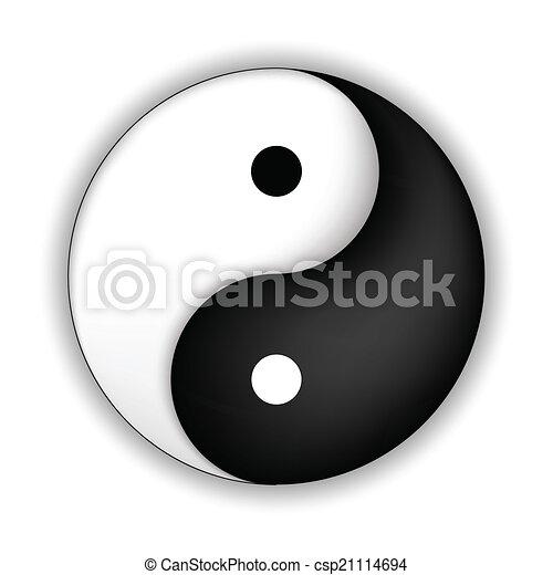 Yin Yang symbol - csp21114694