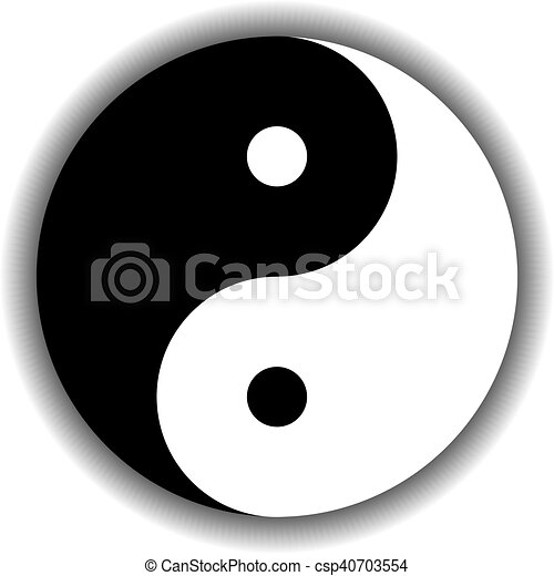 Yin Yang Symbol Icon In Black And White Yin Yang Symbol Icon Of