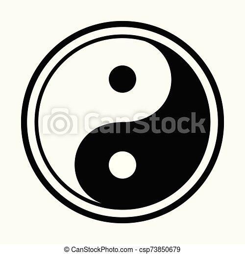 Yin Yang symbol - csp73850679
