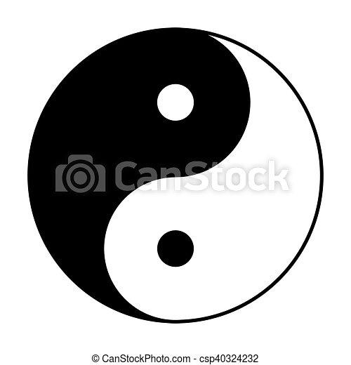 Yin Yang Symbol In Black And White Yin Yang Symbol Of Vectors