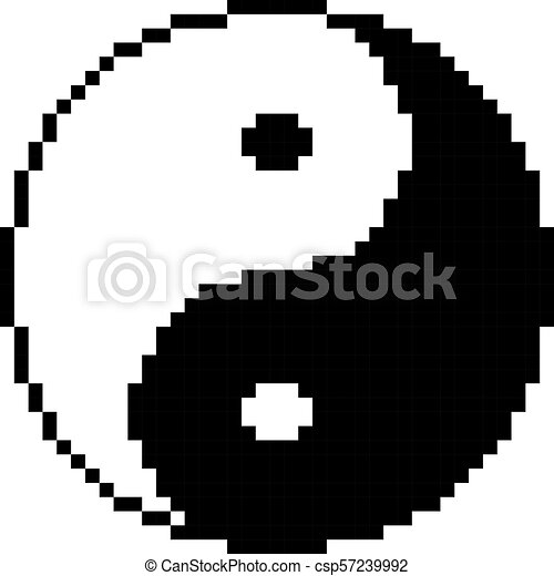 Yin Yang Symbol Of Harmony And Balance Of Cube