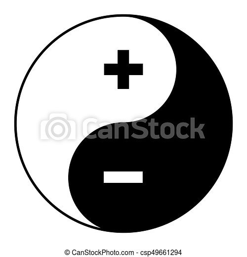 Yin Yang Symbol Of Harmony And Balance Plus Minus