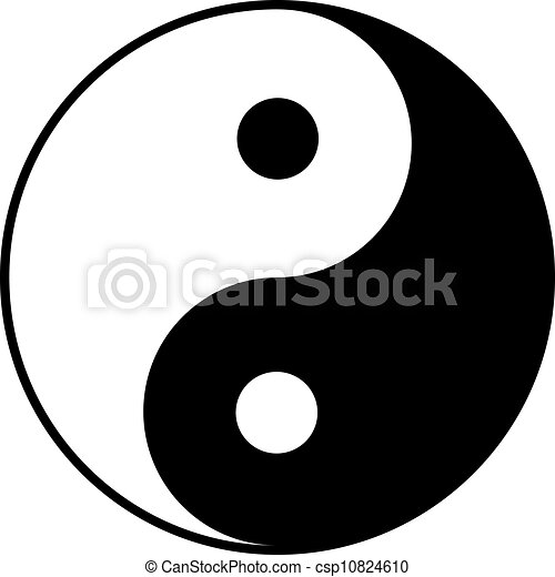 Yin-yang symbol - csp10824610