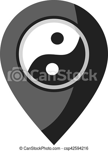 Creative Design Of Yin Yang Symbol
