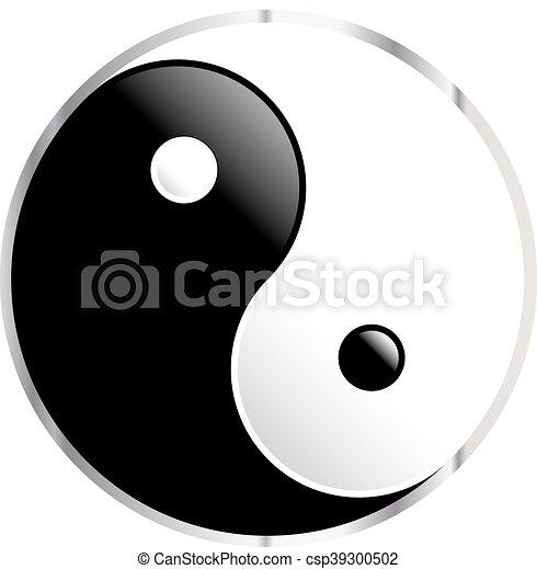 Yin Yang symbol - csp39300502