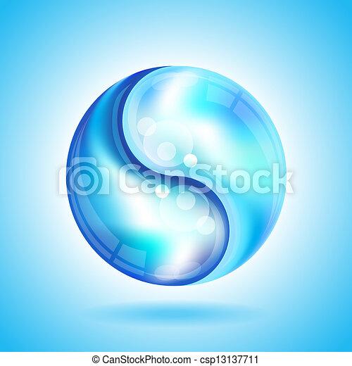 Yin Yang water drops - csp13137711