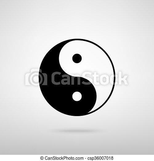 Ying yang símbolo de armonía y equilibrio - csp36007018