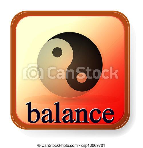 Ying yang símbolo de armonía y equilibrio - csp10069701