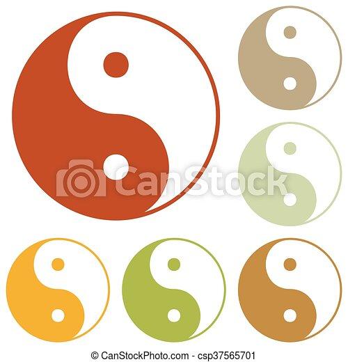 Ying yang símbolo de armonía y equilibrio - csp37565701