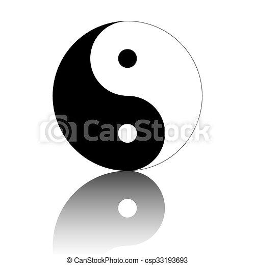 Ying yang símbolo de armonía y equilibrio - csp33193693