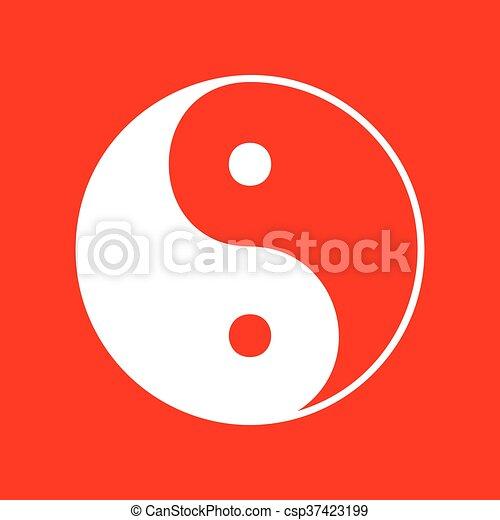 Ying yang símbolo de armonía y equilibrio - csp37423199