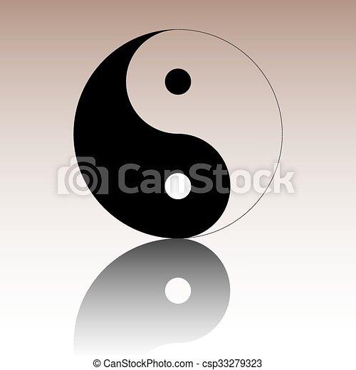 Ying yang símbolo de armonía y equilibrio - csp33279323
