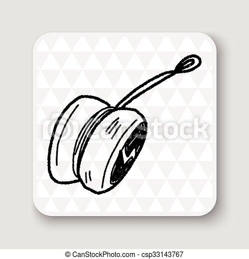 yo-yo doodle - csp33143767