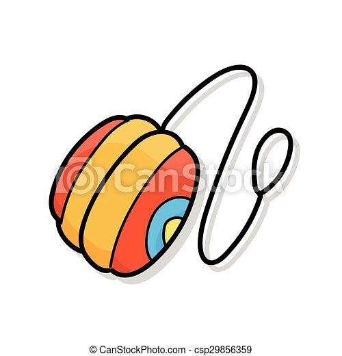 yo-yo doodle - csp29856359
