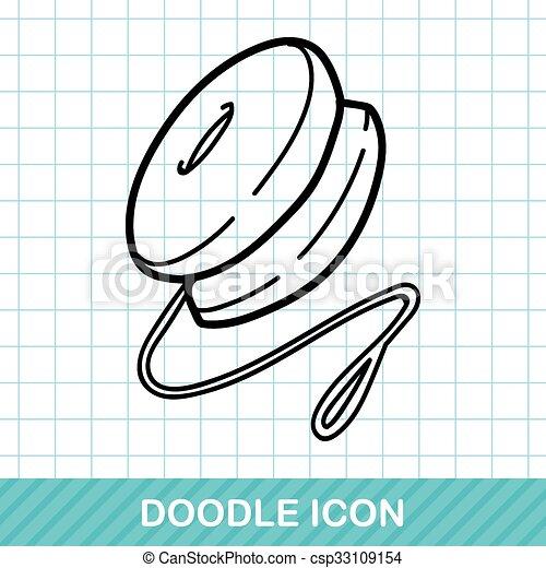 yo-yo doodle - csp33109154