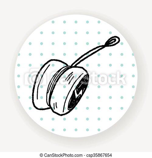 yo-yo doodle - csp35867654