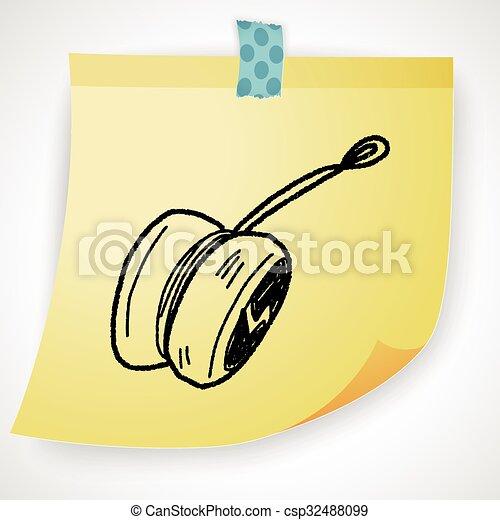 yo-yo doodle - csp32488099